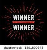 winner winner chicken dinner... | Shutterstock .eps vector #1361800343