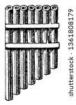 Ugar Organ found in Genesis, vintage line drawing or engraving illustration.