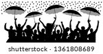 crowd of cheerful people with... | Shutterstock .eps vector #1361808689