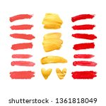 set of gold  red and living... | Shutterstock . vector #1361818049