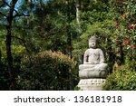 Buddha Sculpture In The Garden...