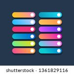 set of button template gradient ...