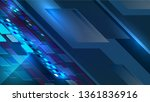 vector illustration of abstract ... | Shutterstock .eps vector #1361836916