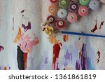 picture by numbers. drawing on...   Shutterstock . vector #1361861819