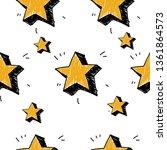 stars seamless pattern. vector...   Shutterstock .eps vector #1361864573