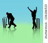 illustration of a cricket... | Shutterstock .eps vector #136186523