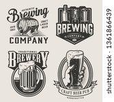 monochrome brewery vintage... | Shutterstock .eps vector #1361866439