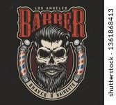 vintage barbershop colorful... | Shutterstock .eps vector #1361868413