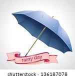vector umbrella | Shutterstock .eps vector #136187078