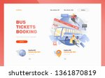 bus tickets booking landing... | Shutterstock .eps vector #1361870819