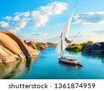River Nile In Egypt. Aswan...