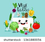 vegetables salad diet. fresh... | Shutterstock .eps vector #1361880056