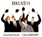 adult education  male and... | Shutterstock .eps vector #1361880089