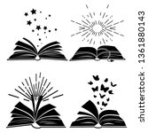 black books silhouettes with... | Shutterstock .eps vector #1361880143