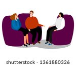 psychotherapy. family... | Shutterstock .eps vector #1361880326