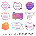 quote info box. set of color... | Shutterstock .eps vector #1361882363