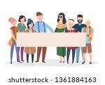 people activists. men women... | Shutterstock .eps vector #1361884163
