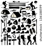 mountain accessory set | Shutterstock .eps vector #136188599