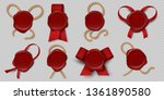 wax seal. realistic certificate ... | Shutterstock .eps vector #1361890580