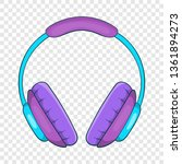headphone icon. cartoon... | Shutterstock .eps vector #1361894273