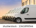 Commercial Delivery Vans Parked ...