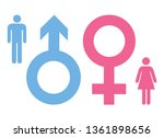 man and woman sign collection... | Shutterstock .eps vector #1361898656
