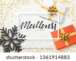 christmas background with gifts ... | Shutterstock .eps vector #1361914883
