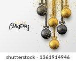 christmas greeting card  design ... | Shutterstock .eps vector #1361914946
