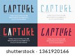 cropped typography  set of... | Shutterstock .eps vector #1361920166