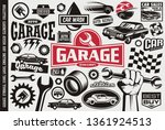 car service and garage symbols  ... | Shutterstock .eps vector #1361924513