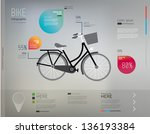bicycle and info graphic...