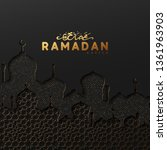 ramadan vector background.... | Shutterstock .eps vector #1361963903