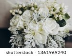 wedding bridal bouquet stands... | Shutterstock . vector #1361969240