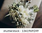 wedding bridal bouquet stands... | Shutterstock . vector #1361969249
