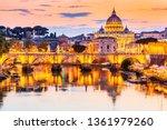 vatican city. saint peter...   Shutterstock . vector #1361979260