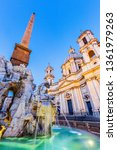 rome  italy. the fountain of...   Shutterstock . vector #1361979263