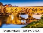 florence  italy. ponte vecchio...   Shutterstock . vector #1361979266