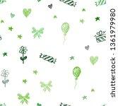 dark green  yellow vector... | Shutterstock .eps vector #1361979980