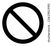 no sign  black isolated on... | Shutterstock .eps vector #1361981990