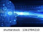 artificial intelligence. ai... | Shutterstock .eps vector #1361984210