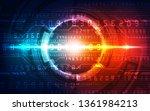 abstract futuristic digital... | Shutterstock .eps vector #1361984213