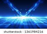 abstract futuristic digital... | Shutterstock .eps vector #1361984216