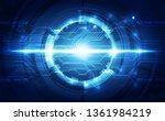 abstract futuristic digital... | Shutterstock .eps vector #1361984219