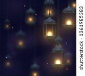dark blue background with...   Shutterstock .eps vector #1361985383