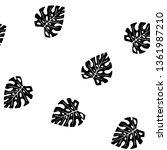black and white pattern of... | Shutterstock .eps vector #1361987210