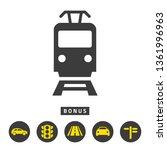 tram icon on white background.... | Shutterstock .eps vector #1361996963