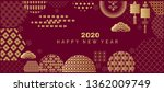 happy chinese new 2020year ...   Shutterstock .eps vector #1362009749