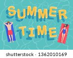 summer time with hand drawing... | Shutterstock .eps vector #1362010169