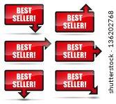 best seller arrow right | Shutterstock .eps vector #136202768