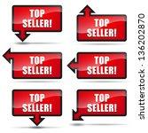 top seller arrow left | Shutterstock .eps vector #136202870